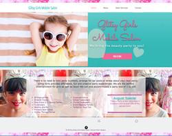 GLITSY girls party salon website