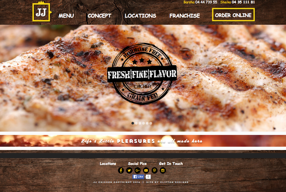 JJ Chicken Website