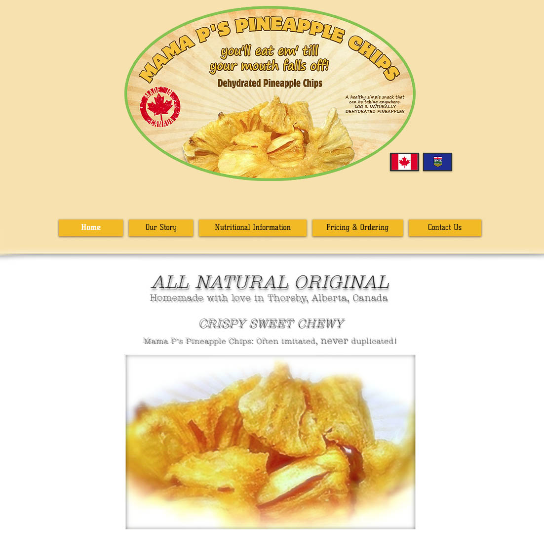 Mama's P's Pineapple Chips site