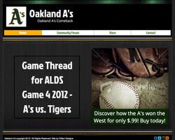 Oakland A website