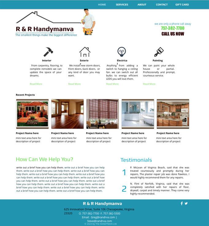 R & R handyman web
