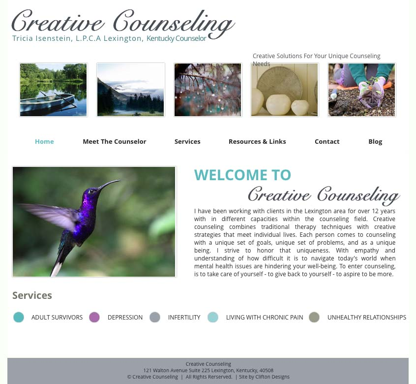 Creative Counseling website