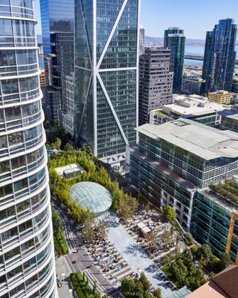 Salesforce Park and Transbay Transit Center by PWP Landscape Architecture and Pelli Clarke Pelli Architects.