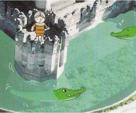 Para llegar al castillo hay que atravesar el foso