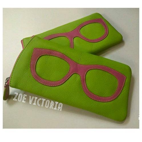 Sweet Pink & Green Eyeglass Case