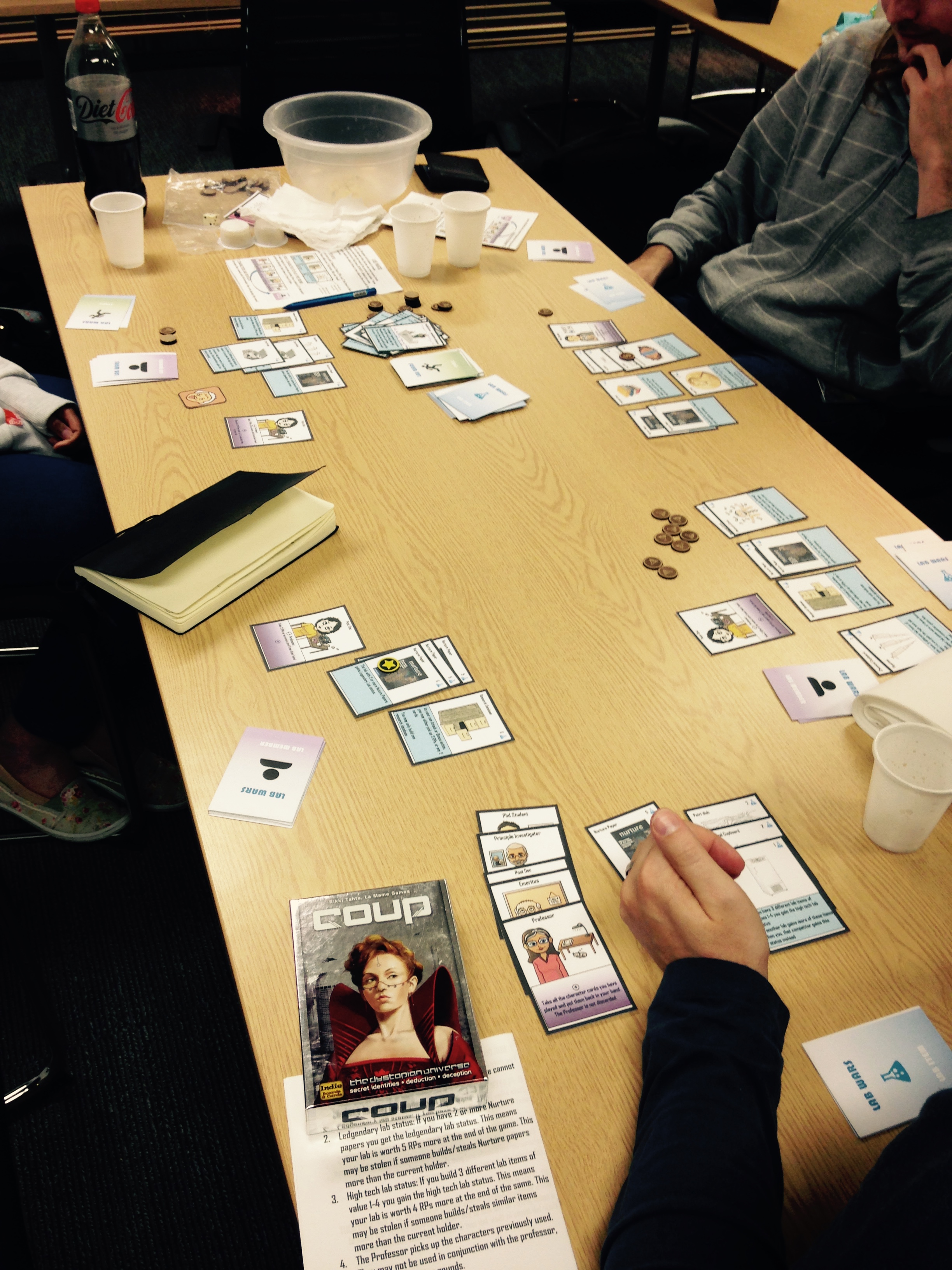 Playtesting in my department