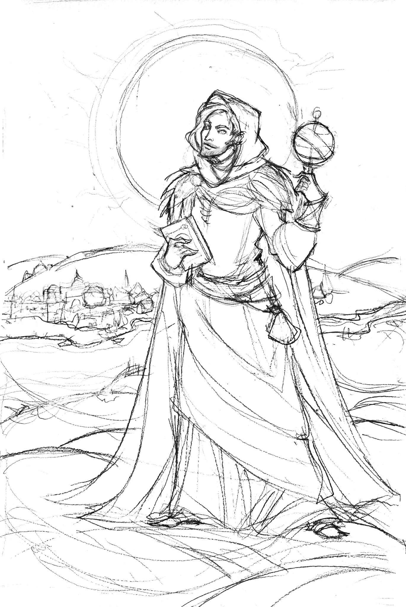 Sketch of the mage
