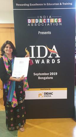 IDA Award for My Learning Train