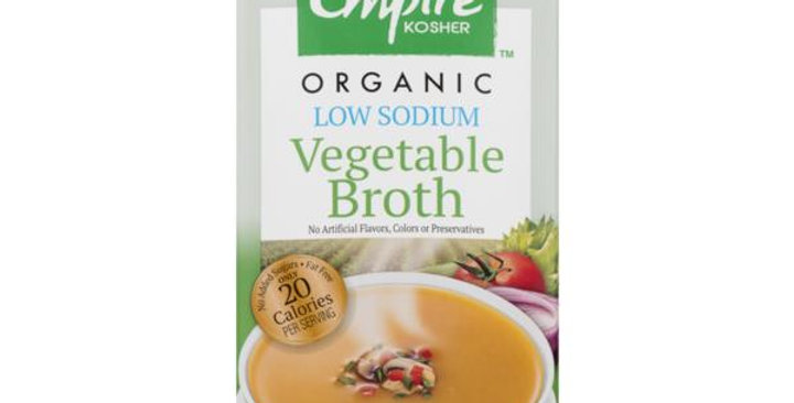 Empire Organic Low Sodium  Vegetable Broth