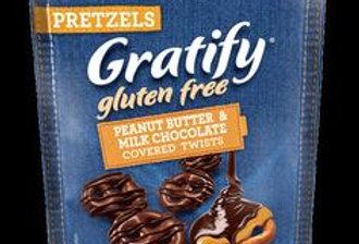 Gratify GF Peanut Butter& Milk Chocolate Covered Pretzels