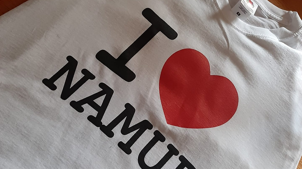"""T-shirt"""" I LOVE NAMUR"""""""
