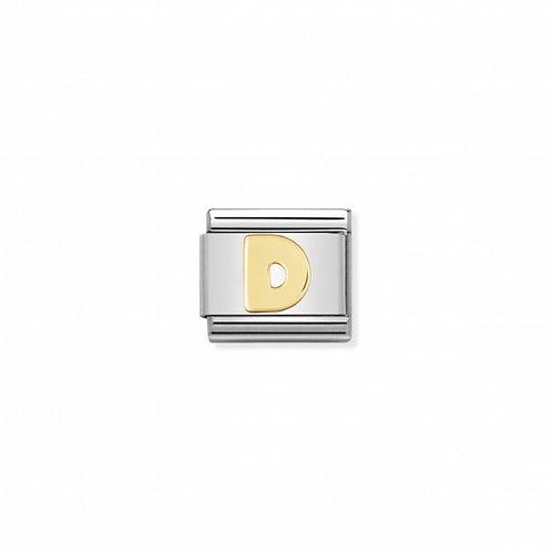 18K gold Link with Letter D