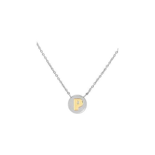 NECKLACE WITH LETTER P IN GOLD