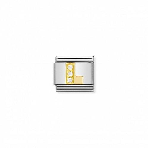 Nomination Classic CZ Letter LLink