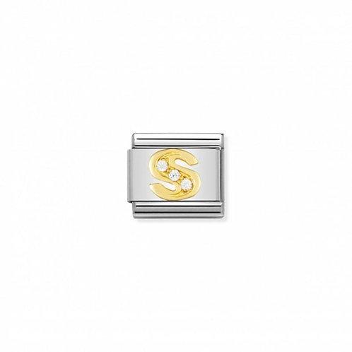 Nomination Classic CZ Letter S Link