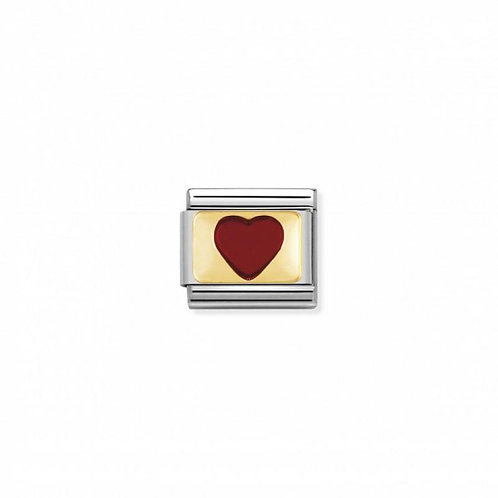 Nomination Classic Love Red Positive Heart Link