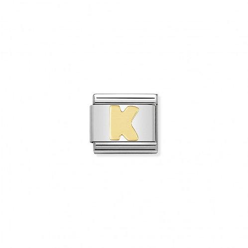 Alphabet Letter K in stainless steel