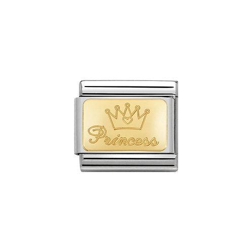Classic Gold Princess Plate Charm