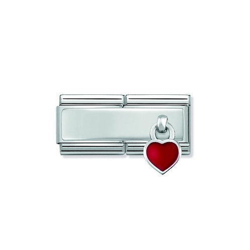 Nomination Love Hanging Heart Double Link