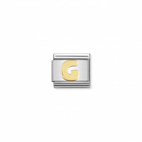18K gold Link with Letter G