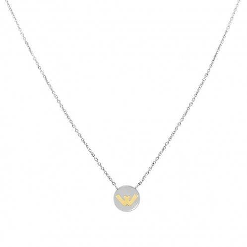 NECKLACE WITH LETTER W IN GOLD