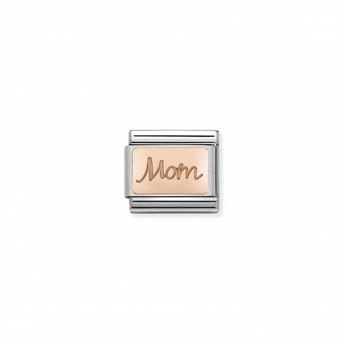 Nomination Rose Gold Engraved Symbol Mom Link
