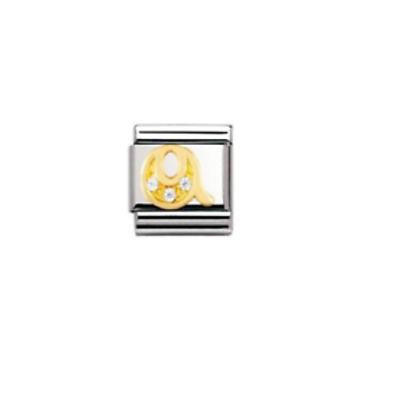 Nomination Classic CZ Letter Q Link