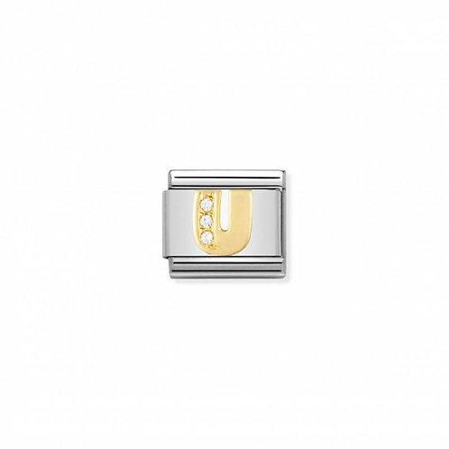Nomination Classic CZ Letter U Link