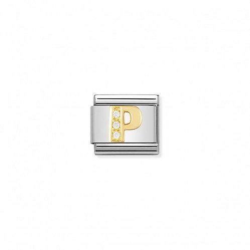 Nomination Classic CZ Letter P Link
