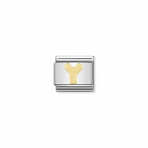 18K gold Link with Letter Y