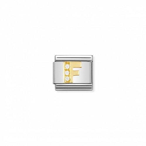 Nomination Classic CZ Letter F Link