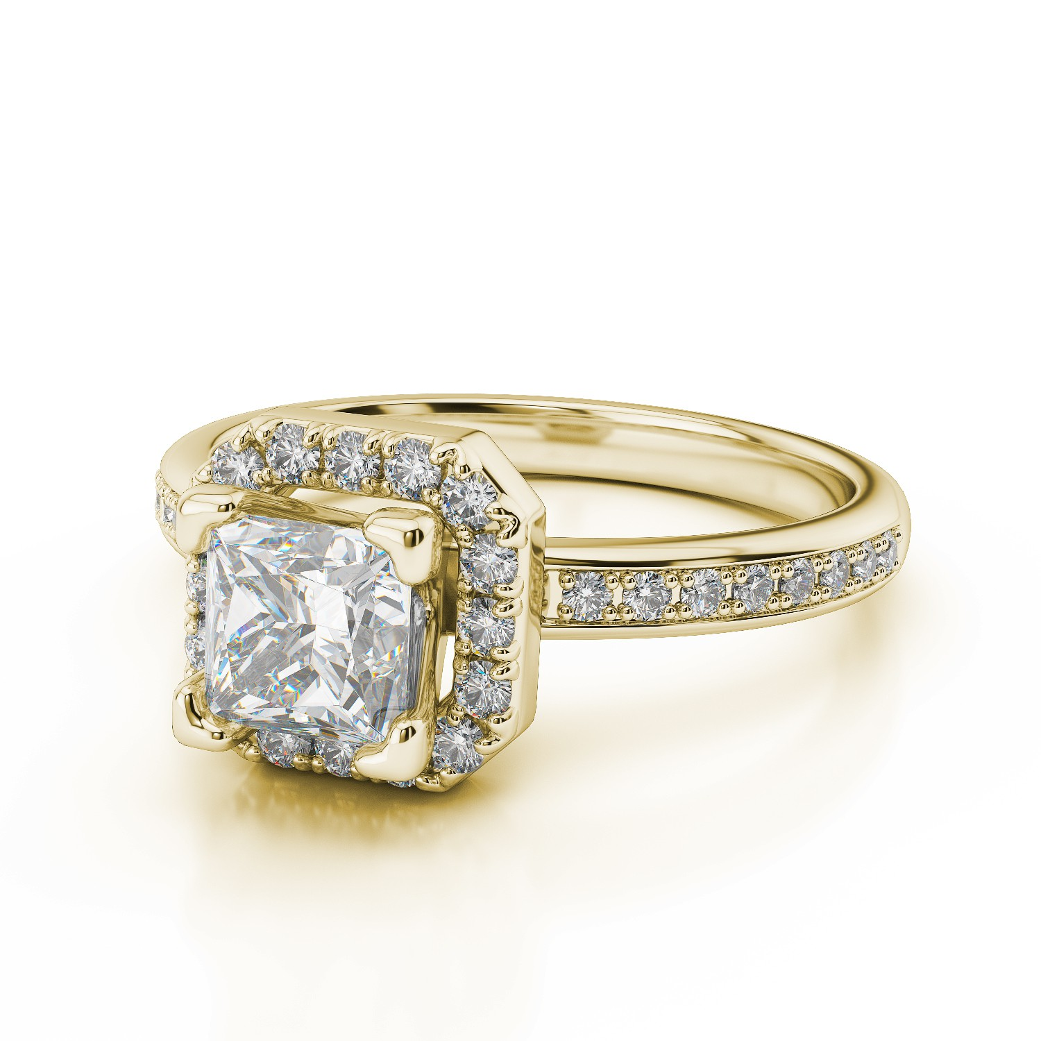 18ct Yellow Gold with diamonds