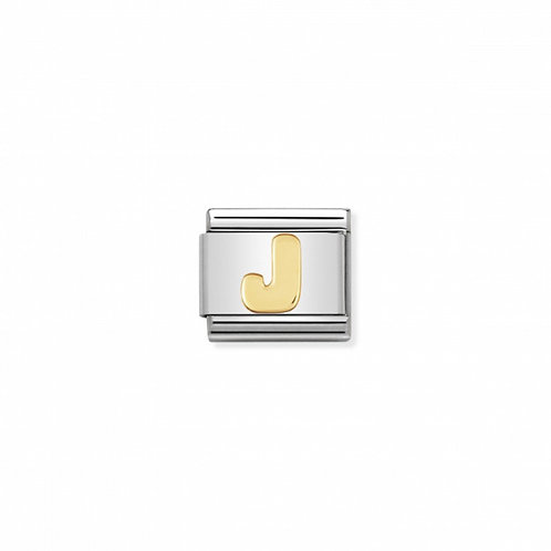 18K gold Link with Letter J