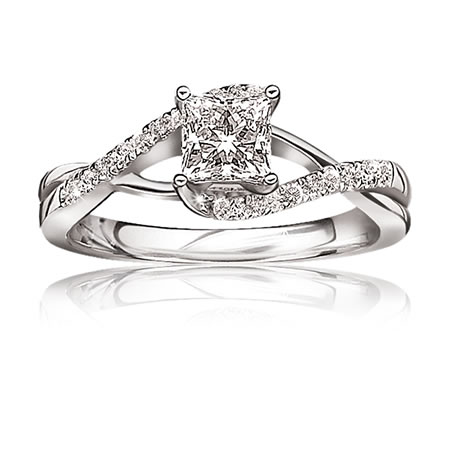9ct White Gold with diamonds