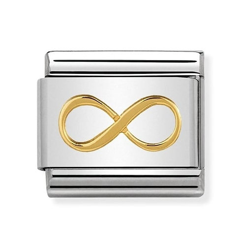 Nomination Classic Infinity Steel and 18k Gold Link Charm