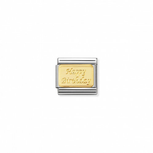 ENGRAVED COMPOSABLE CLASSIC LINK HAPPY BIRTHDAY