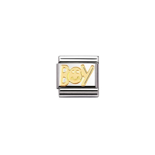 Classic composable 18ct Gold Boy Charm