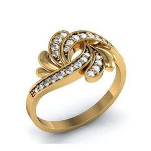 9ct Yellow Gold with diamonds