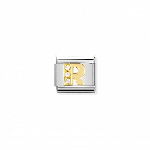 Nomination Classic CZ Letter R Link
