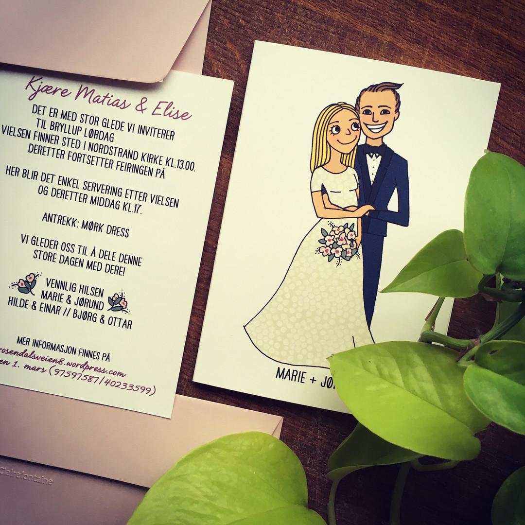 Personlig bryllupsinvitasjon