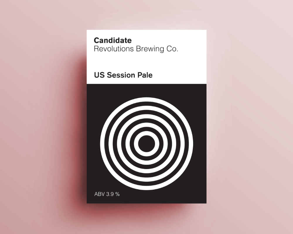 Candidate / US Session Pale / ABV 3.9%
