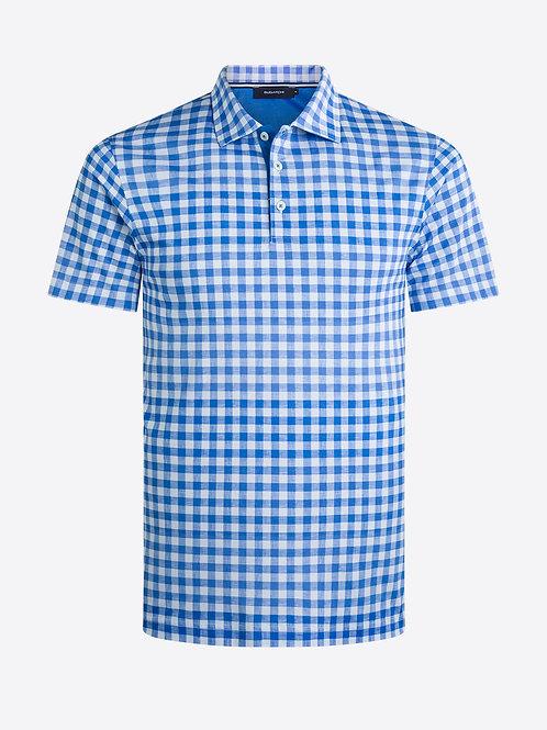 Bugatchi Short Sleeve Check Polo