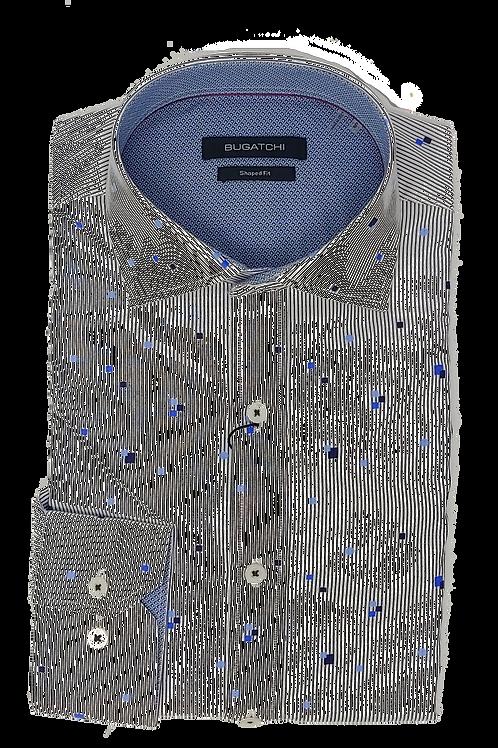 Bugatchi Stripe Geometric Shirt