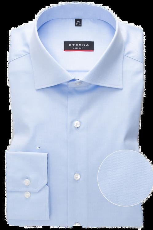Eterna Blue Twill Dress Shirt