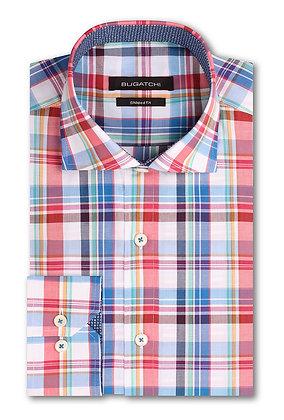 Bugatchi Classic Fit Plaid Shirt