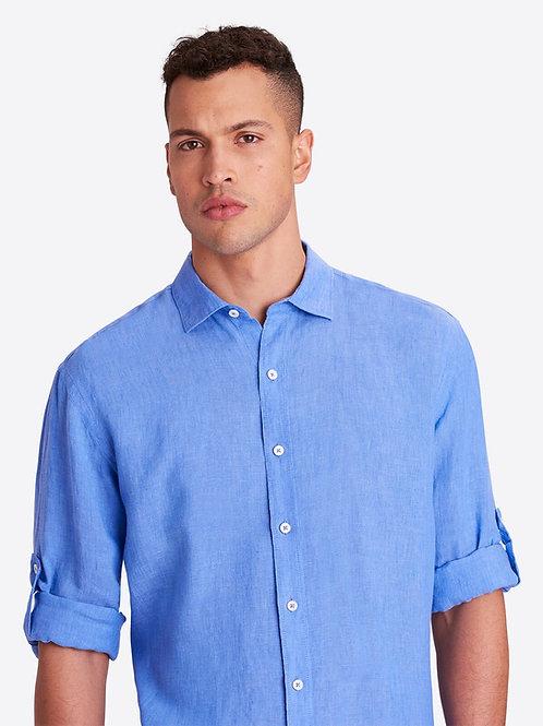 Bugatchi French Blue Linen Shirt
