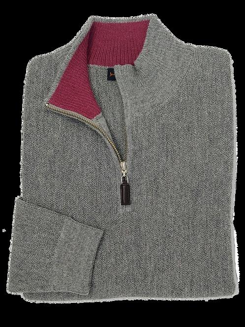 Jonathan MacIntosh Half Zip Alpaca Sweater