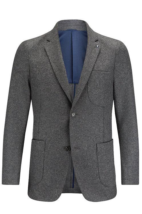 Bugatchi Wool Flannel Blazer Graphite