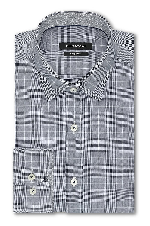 Bugatchi Performance Navy Plaid Shirt
