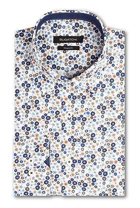 Bugatchi Mini Floral Print Shirt